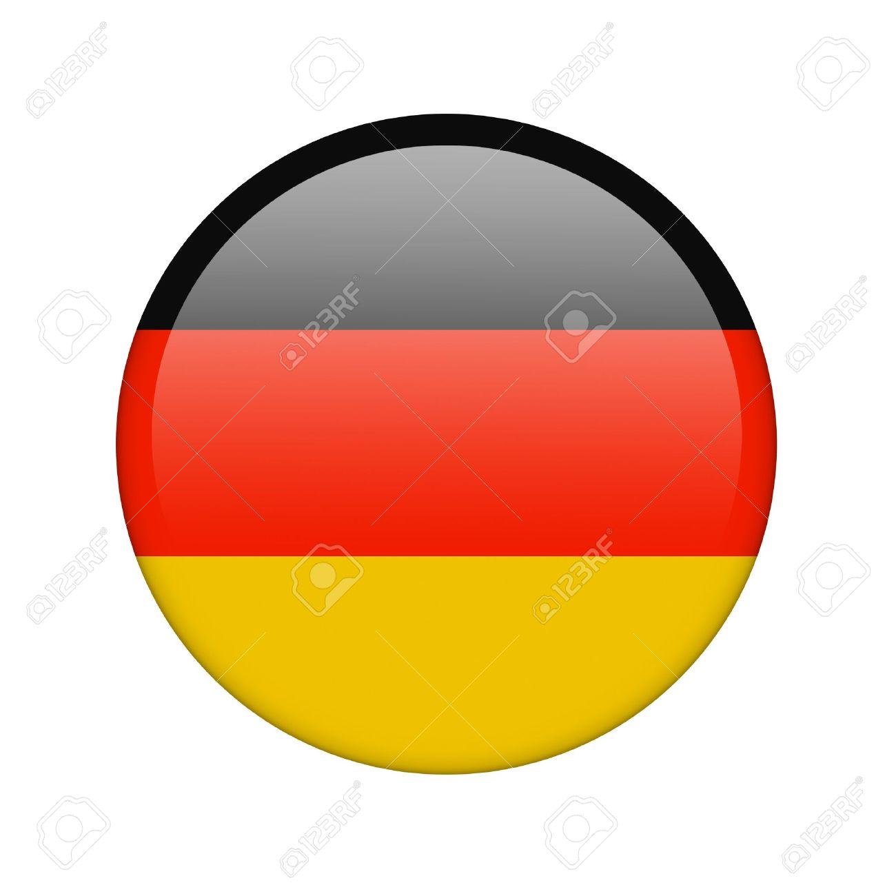 The German flag in the form of a glossy icon. Stock Photo - 16760688