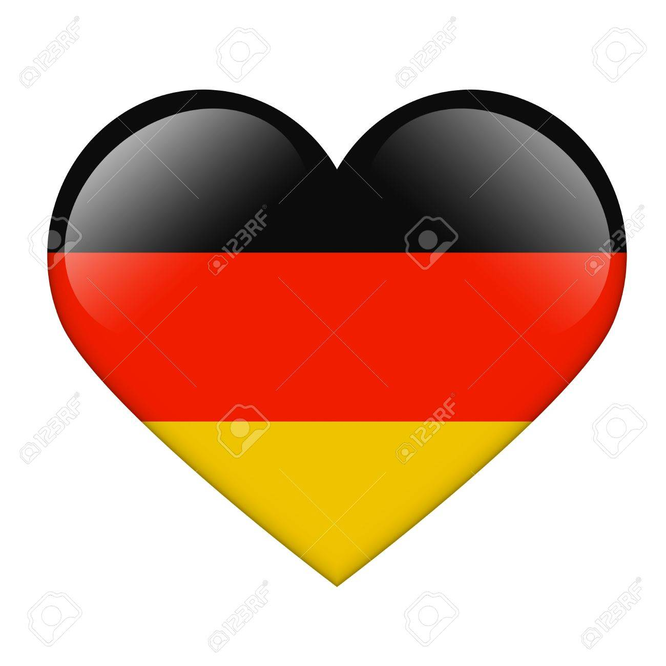 The German flag in the form of a glossy heart Stock Photo - 17476740