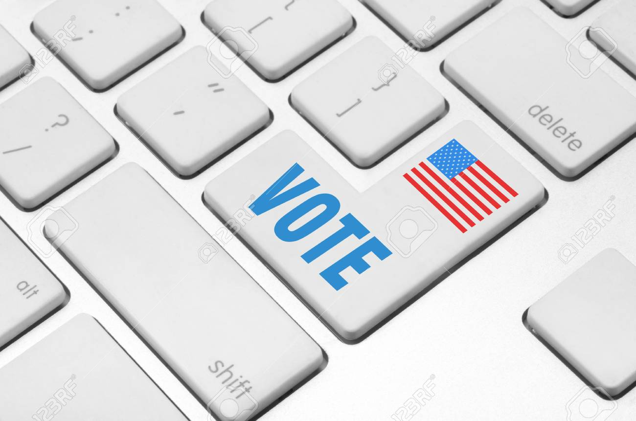 concept  Vote key on the computer keyboard Stock Photo - 20612373