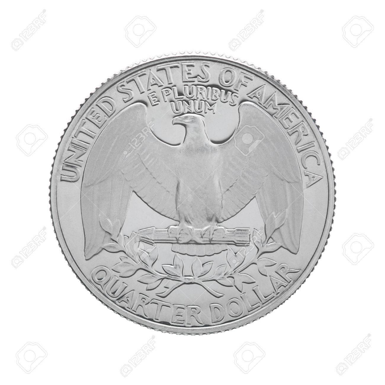 Die Rückseite Einer Usa 25 Cent Münze Quartal Der Darstellung Usa