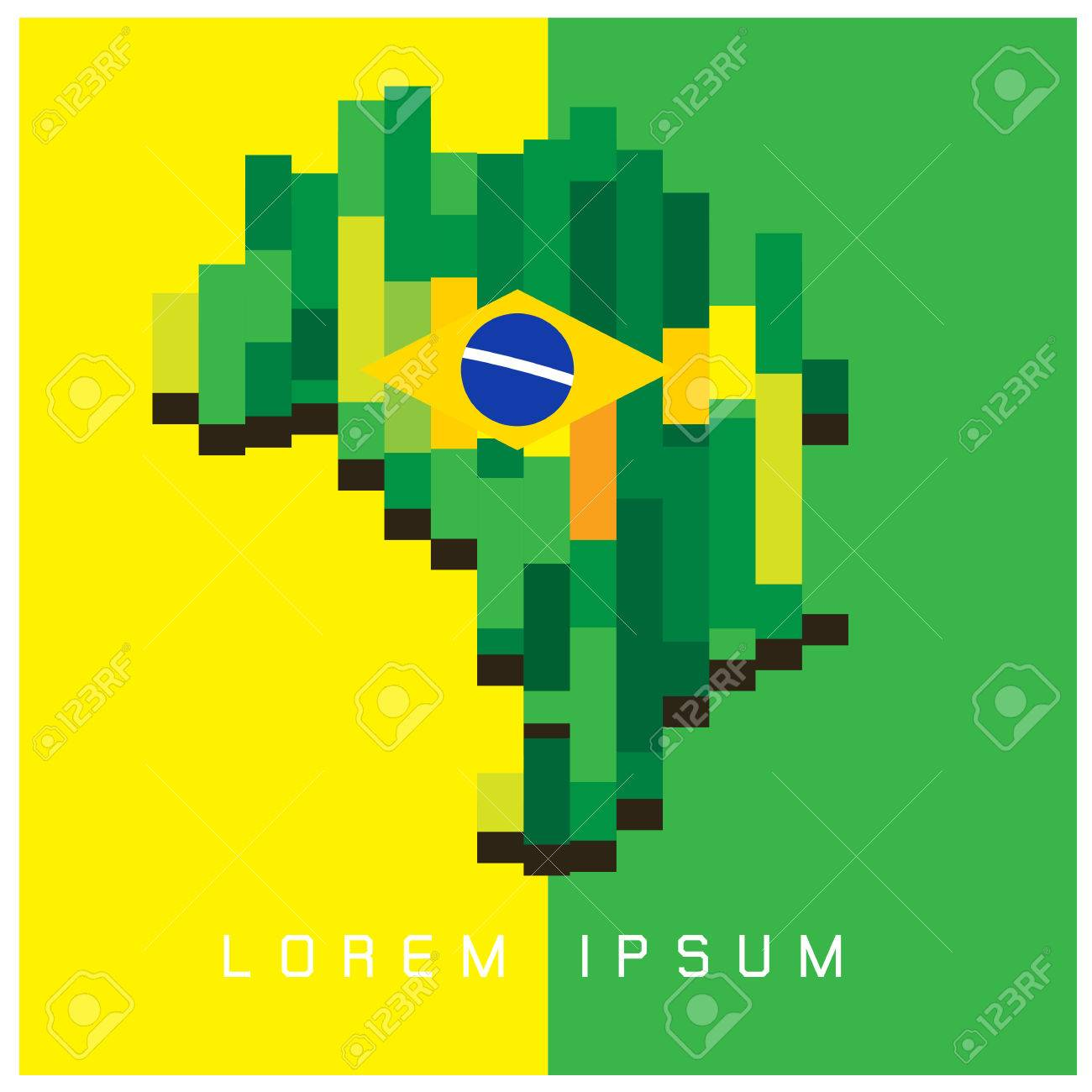 Brazil World Map With A Pixel Diamond Texture Vector Background – Map World Brazil
