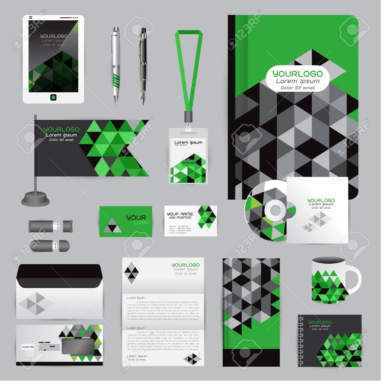 Vecteur Socit Style Pour Marque Page Directive Et Stylos Tasses CD Livres Cartes De Visite Papier En Tte Drapeau Carte Portefeuille Employs Tablet