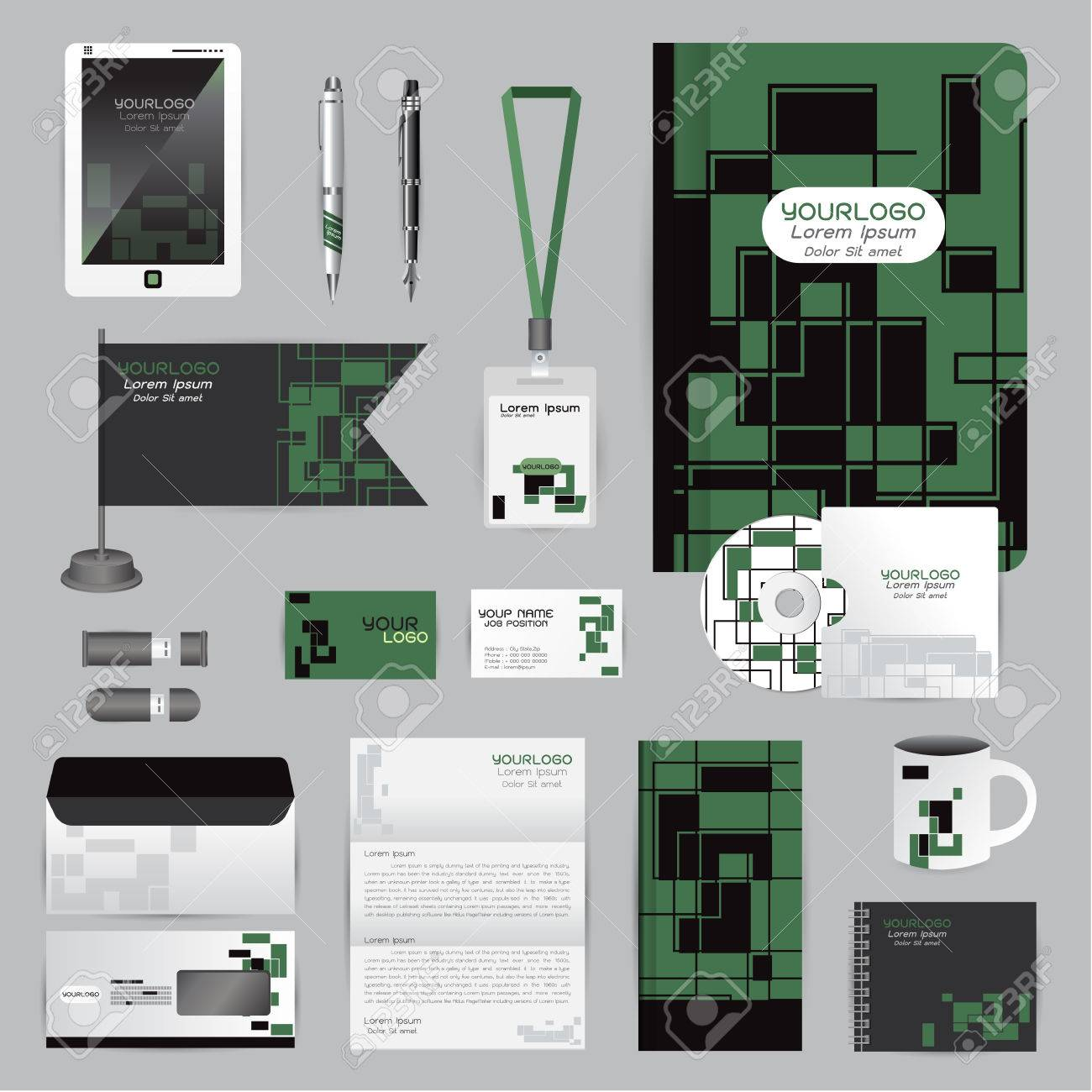 Weiß-Identity-Vorlage Mit Origami-Elementen. Vector Firma Stil Für ...