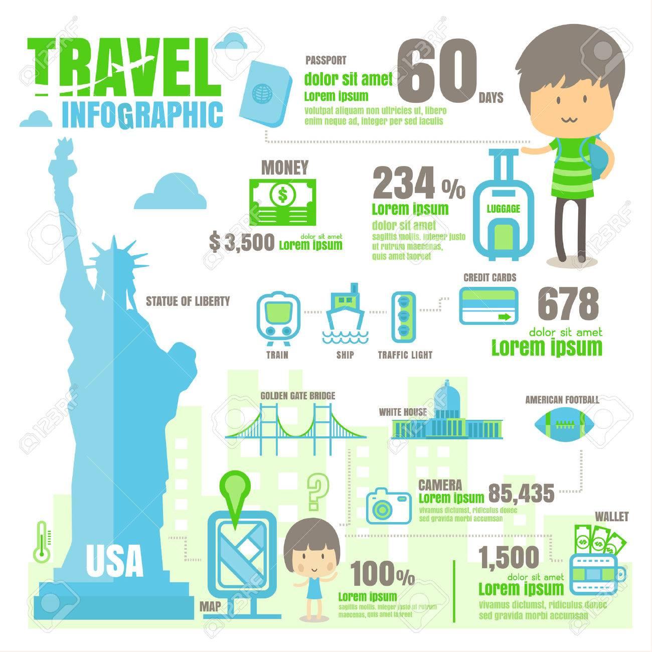infographique Etats-Unis. sur fond blanc Banque d'images - 62707709