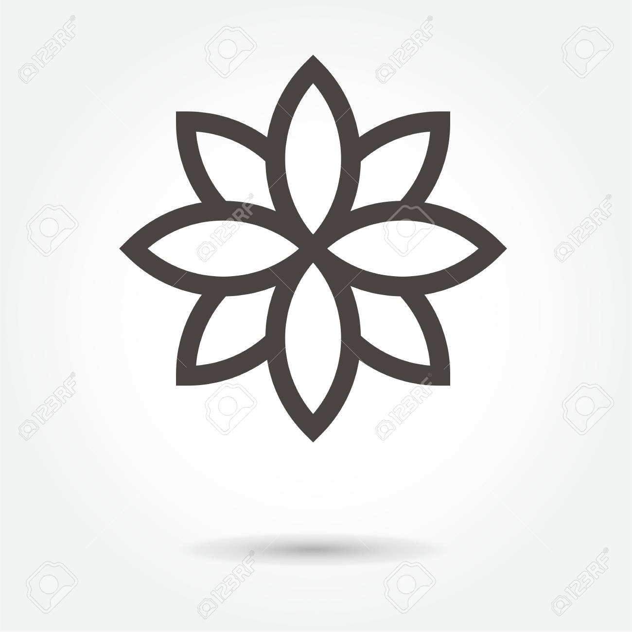 Lotus Flower Icon Vector On White Background Royalty Free Cliparts