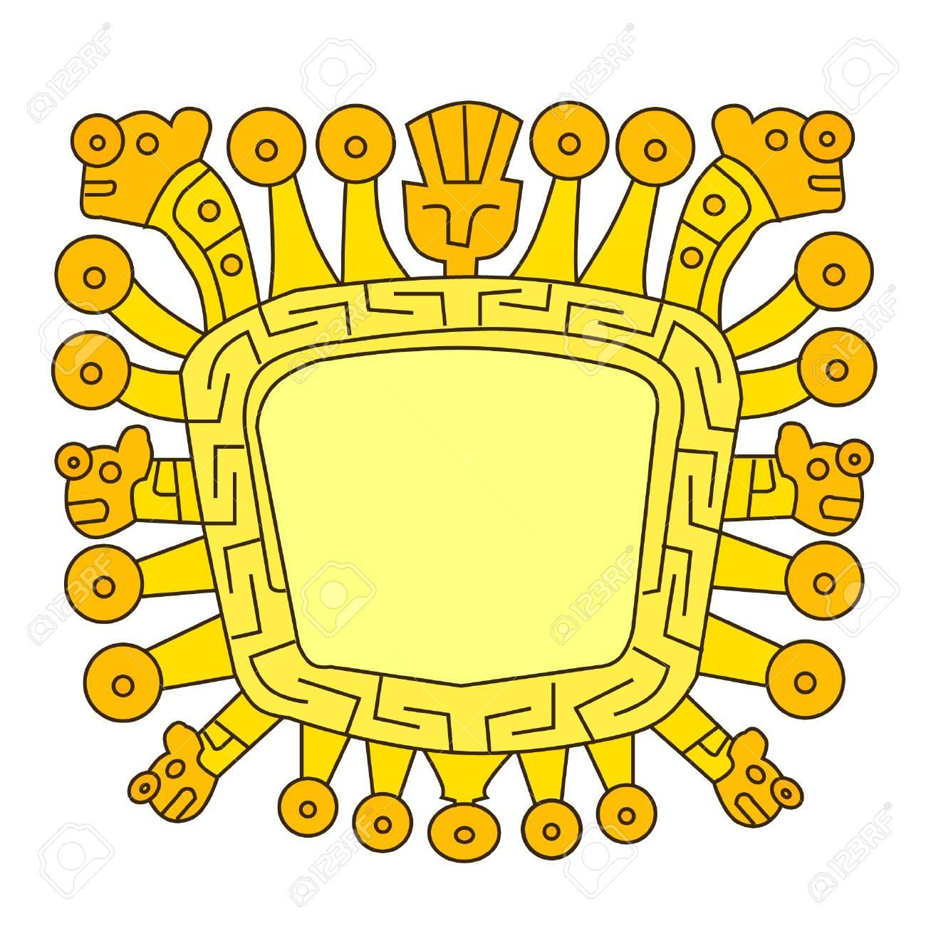 インカのアイコン。Viracocha、...