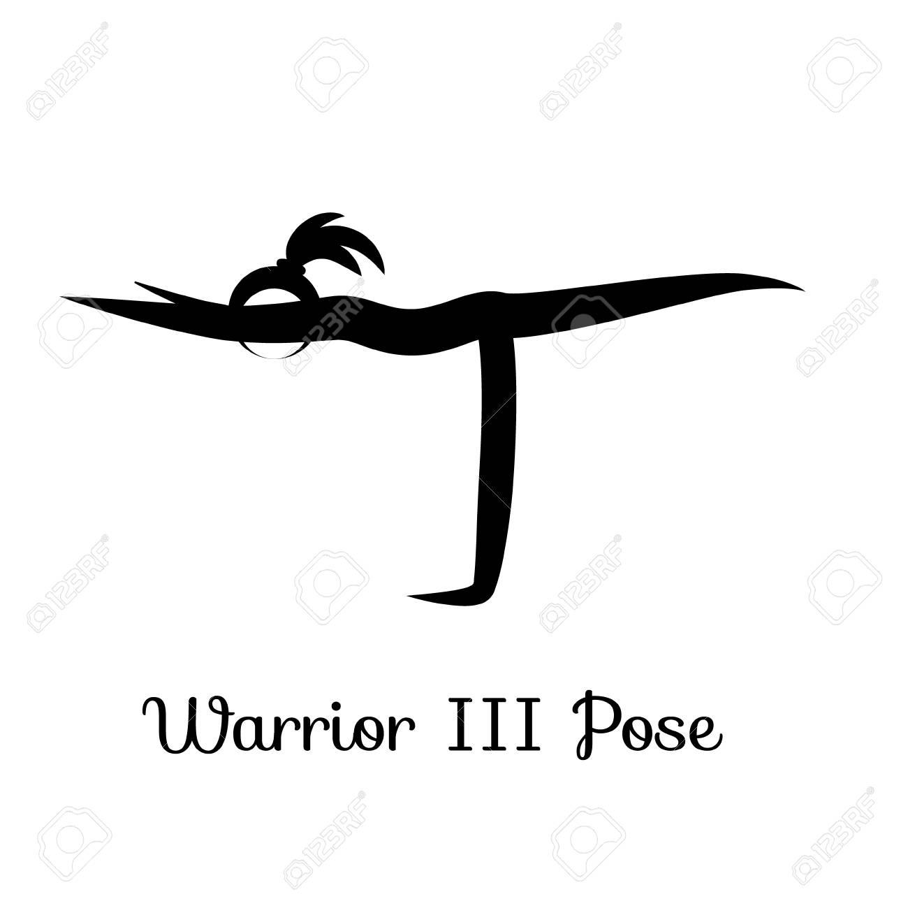 Warrior III Pose Virabhadrasana Yoga Position Vector