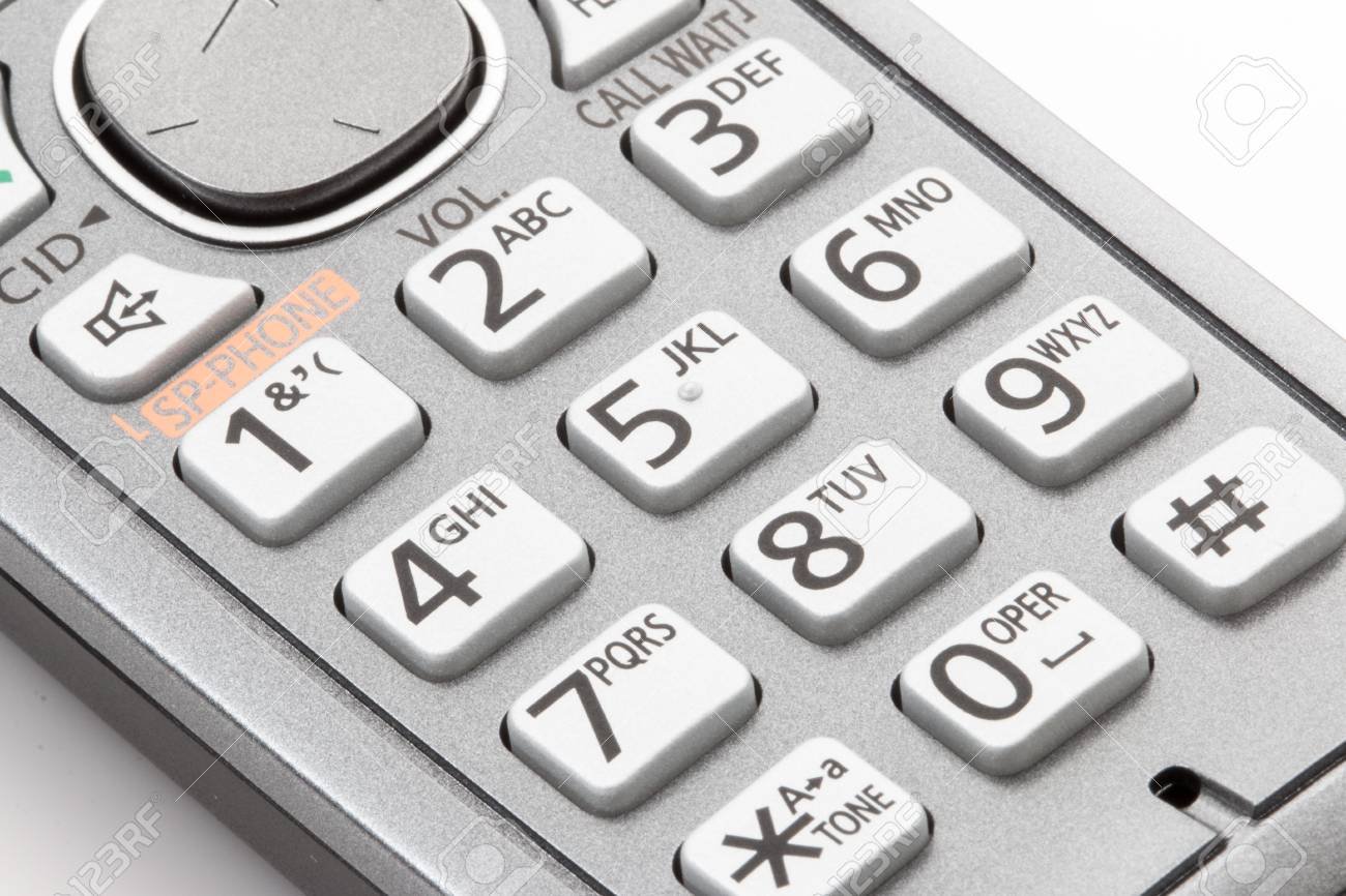 Dial pad on cordless telephone
