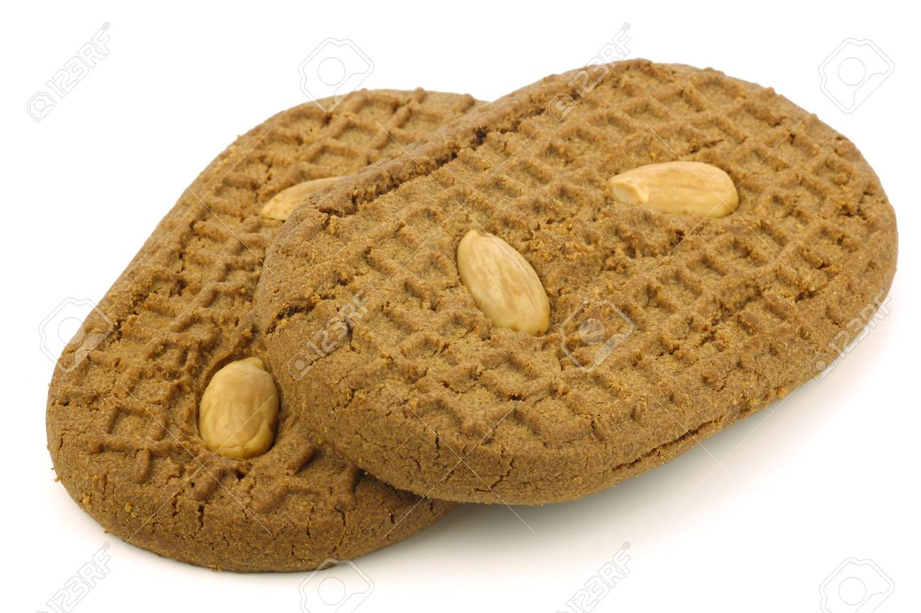 speculaas  traditional pastry from Holland  on a white background Stock Photo - 15106590
