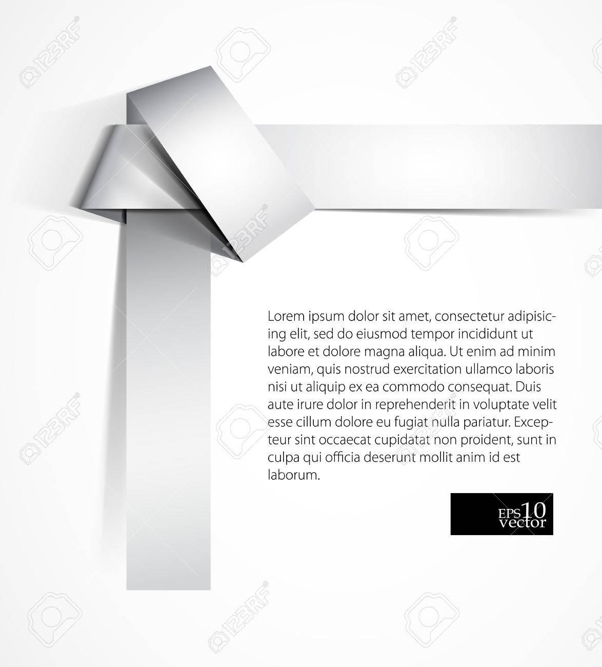 Origami knot design Stock Vector - 14125524