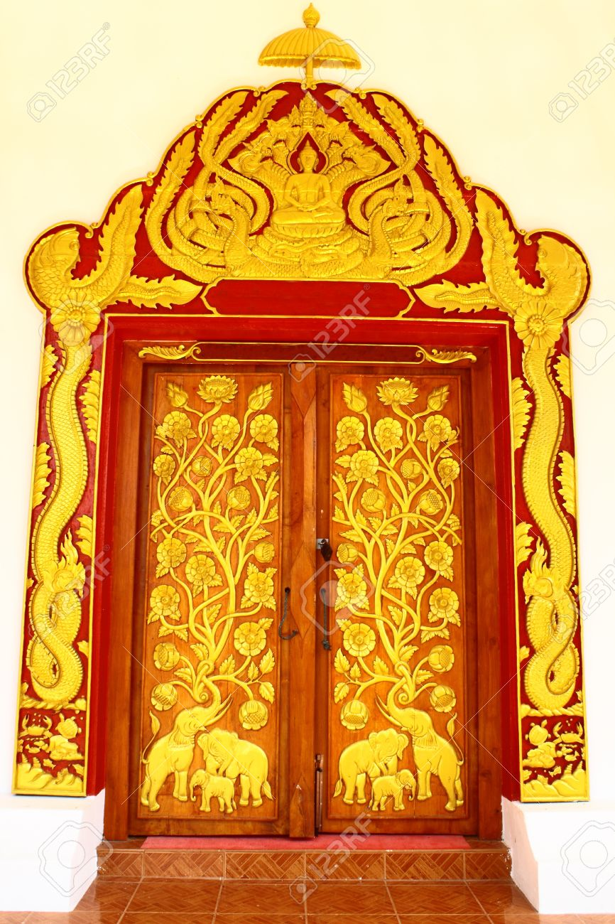 Stock Photo - Thai style temple door  sc 1 st  123RF.com & Thai Style Temple Door Stock Photo Picture And Royalty Free Image ...