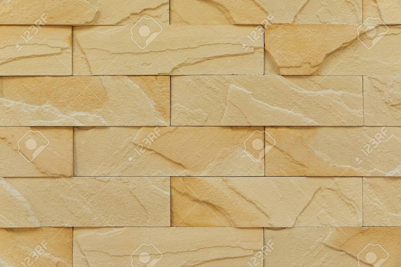 close-up of milk chocolate color brick wall. - 137001411