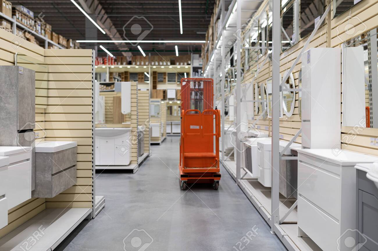 Minsk Belarus April 01 2020 Bathroom Furniture Store With Stock Photo Picture And Royalty Free Image Image 150874100