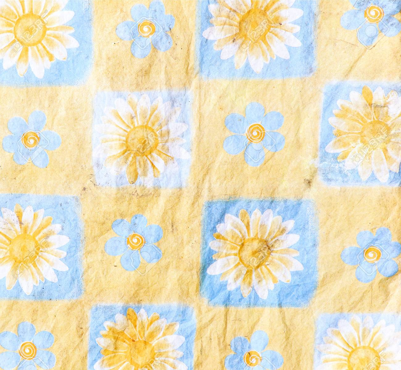 Stain Sunflower Wallpaper In The Bedroom Stock Photo Picture And Royalty Free Image Image 17922301