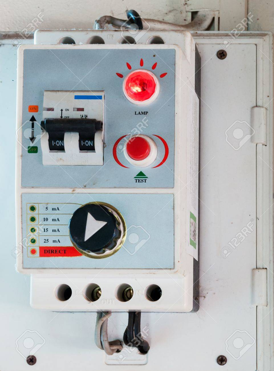 Breaker Control Box On The Wall Of Urban House. Stock Photo, Picture ...