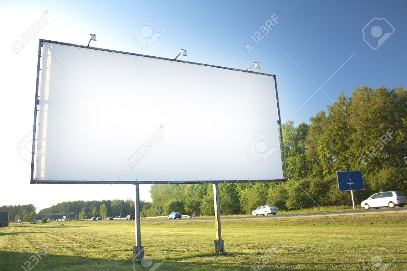 Billboard For Advertisement On Sky Background Stock Photo