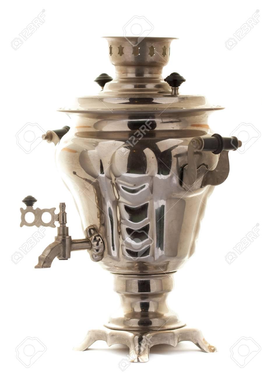 Teapot samovar isolated on white Stock Photo - 6286160