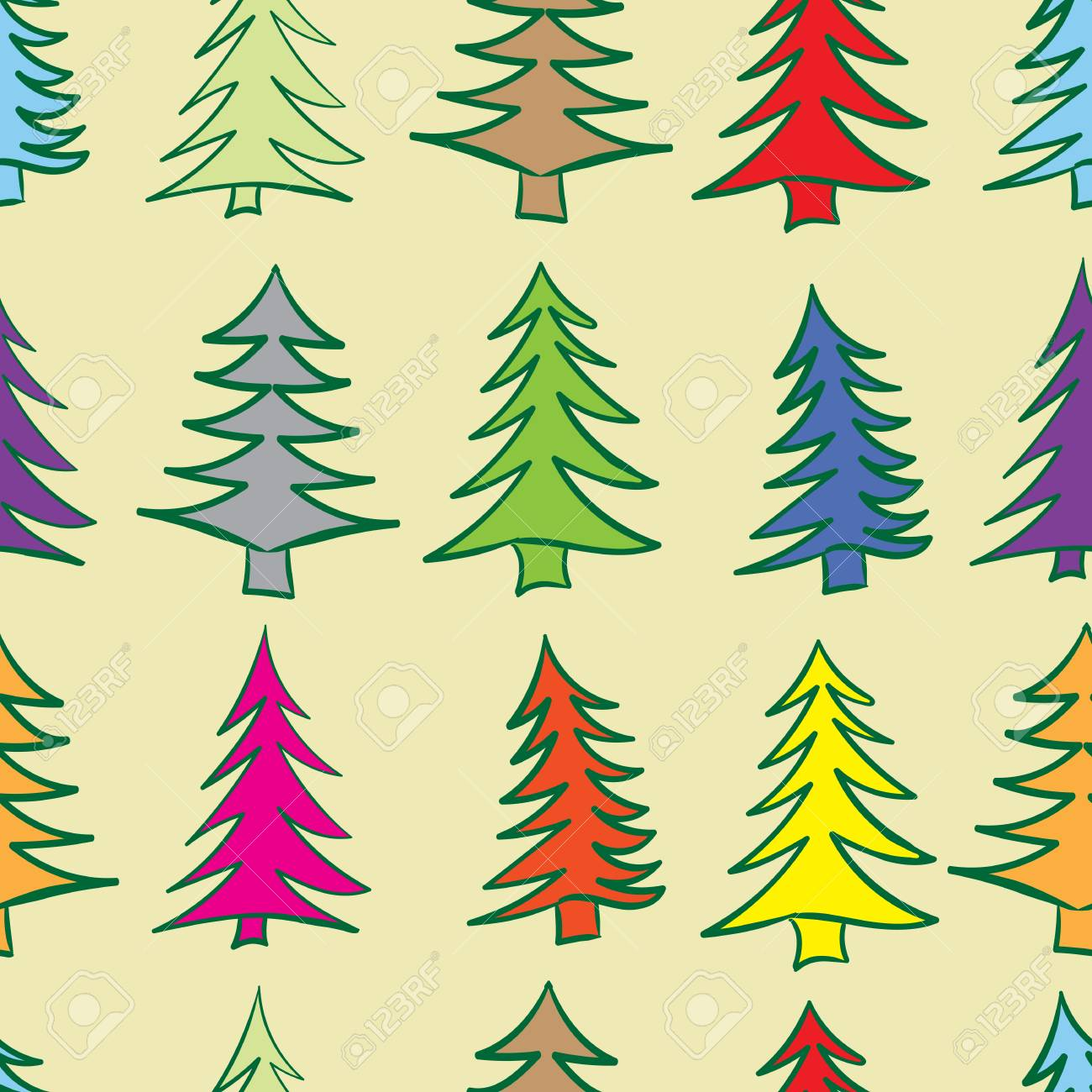 Dorable Color Lights Christmas Tree Picture Collection - Coloring ...