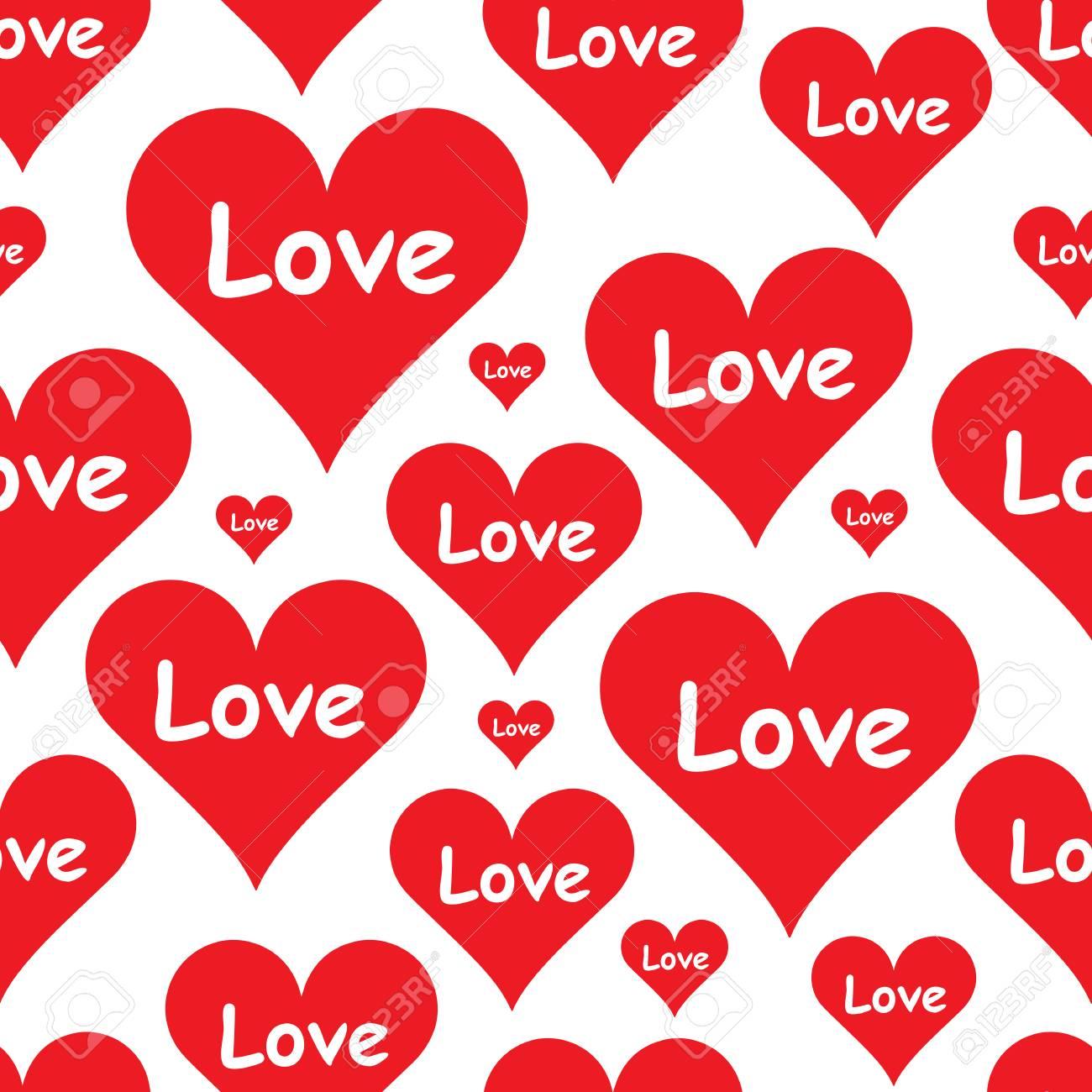 Textura Transparente Con Corazones De Color Día De San Valentín ...