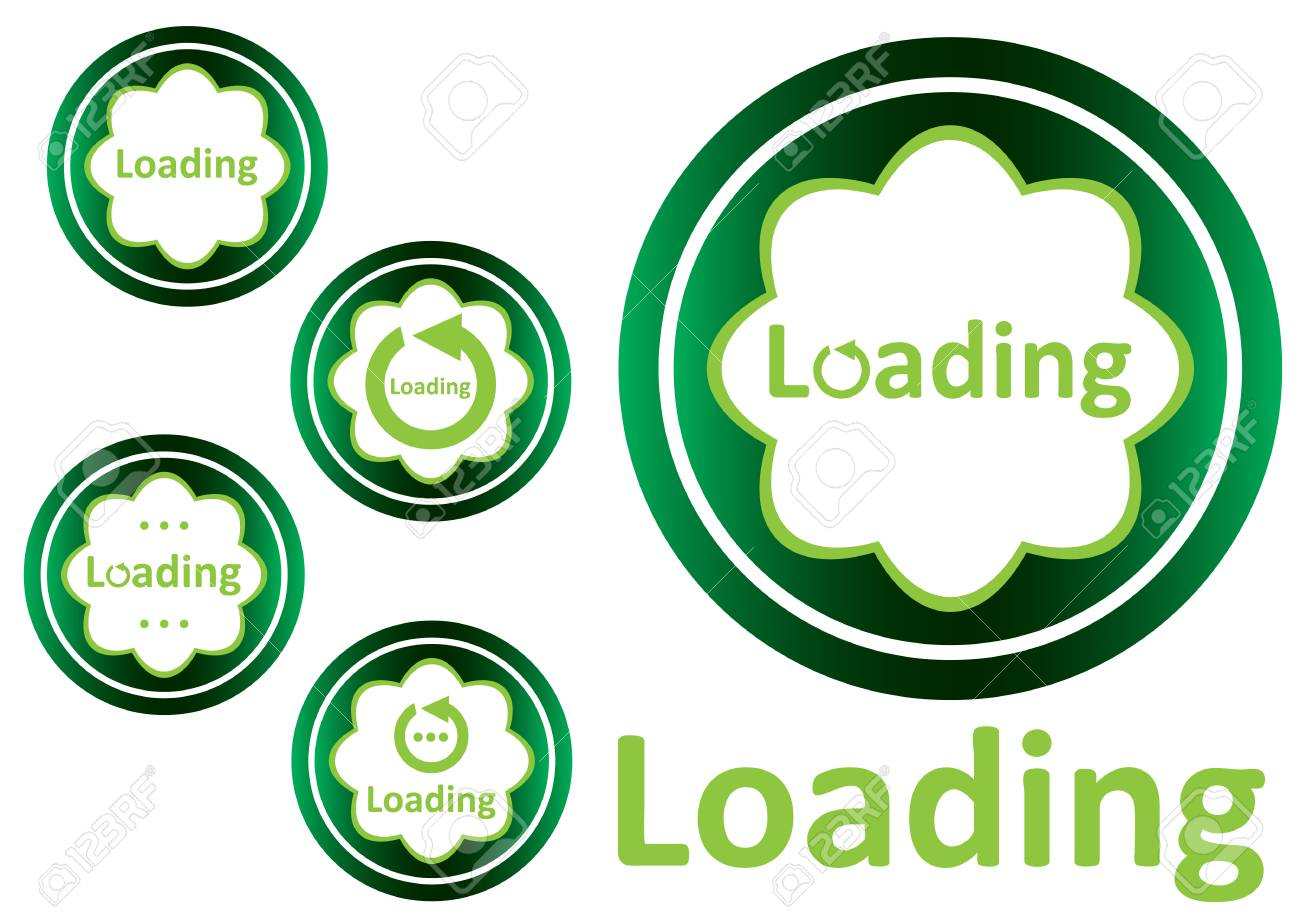 Clipart With Green Icons With A Loading Symbol Royalty Free Cliparts