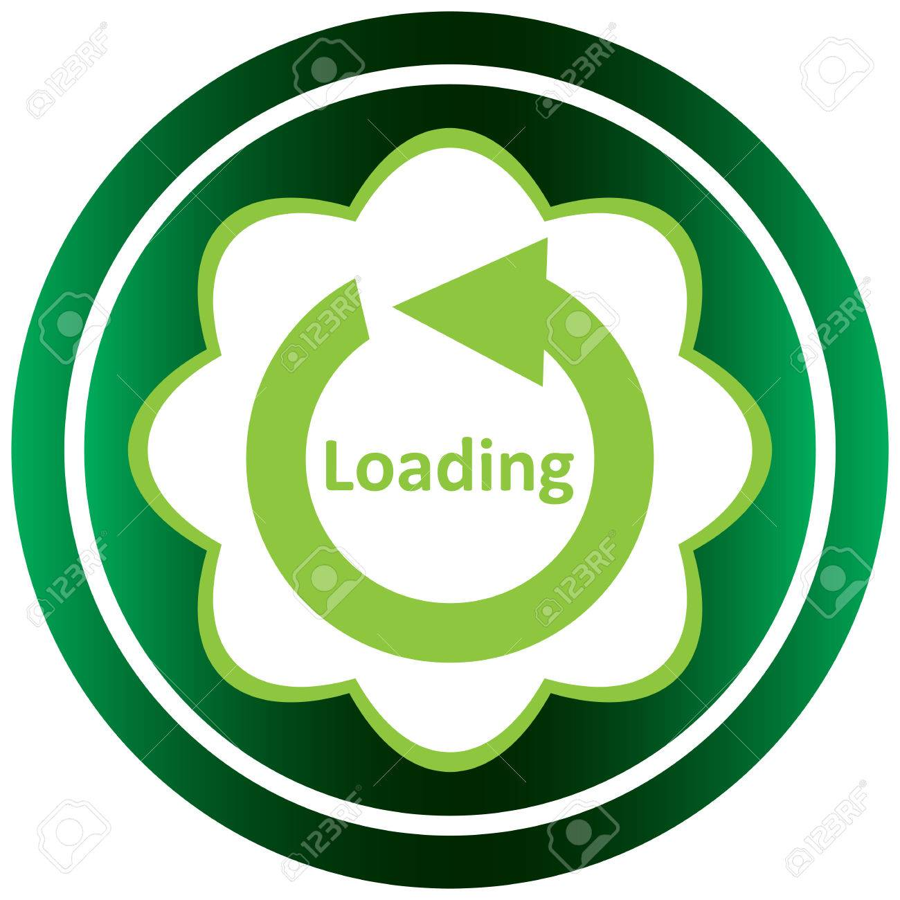 Green icon with a loading symbol on white royalty free cliparts green icon with a loading symbol on white stock vector 57116384 biocorpaavc Image collections