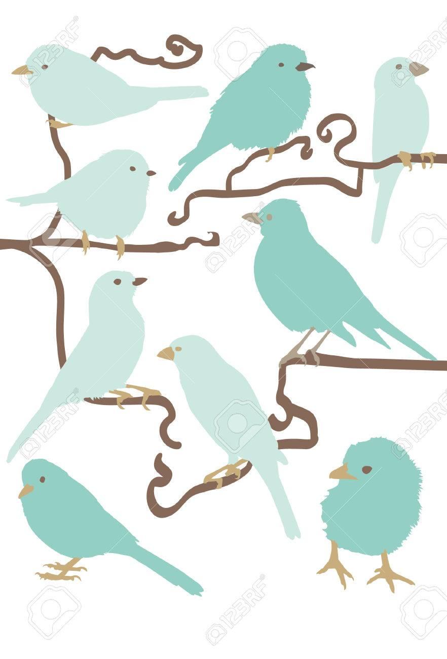 簡単な鳥のイラストのイラスト素材ベクタ Image 4366410
