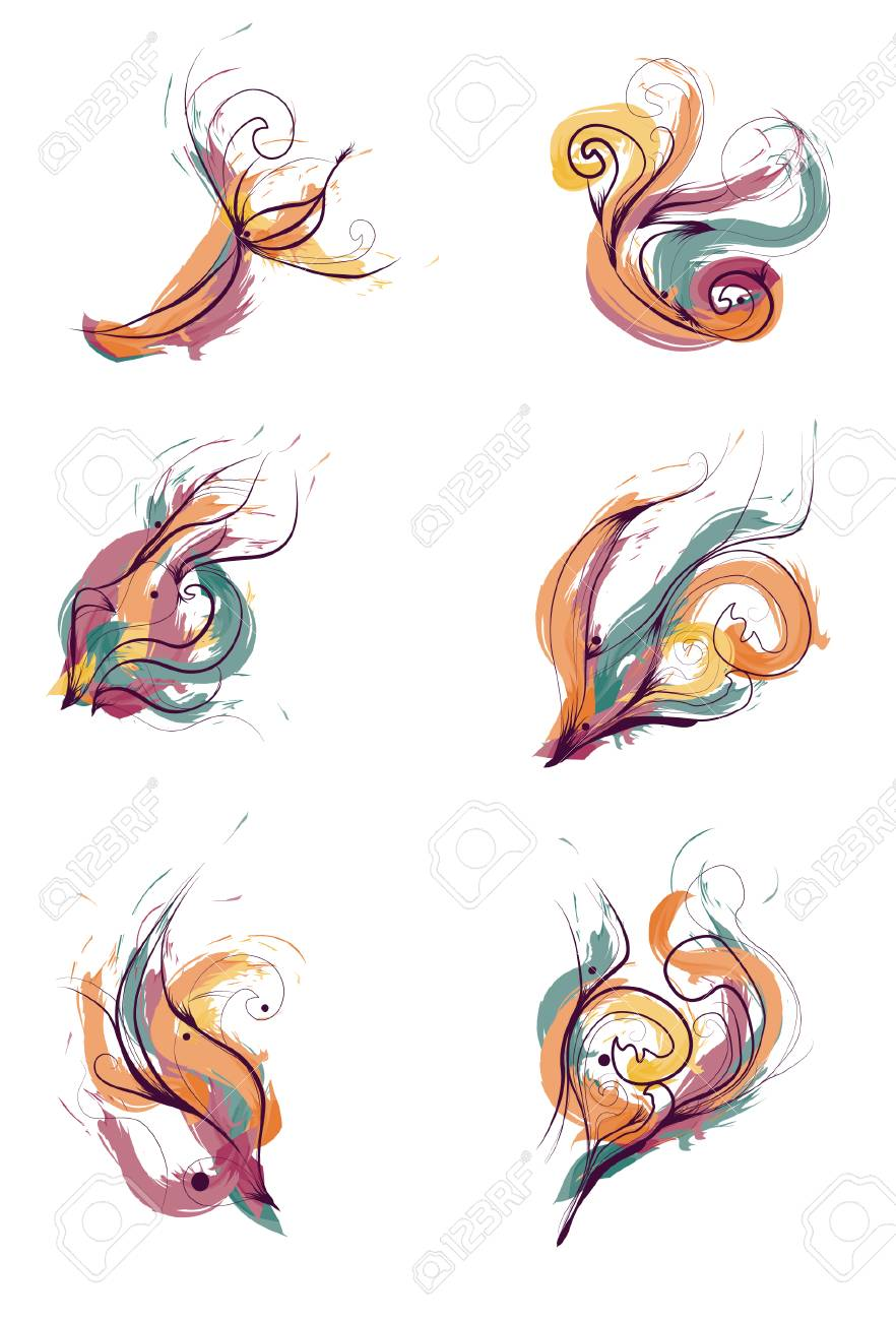 Messy Hand Drawn Painted Design Elements Stock Vector - 6265277