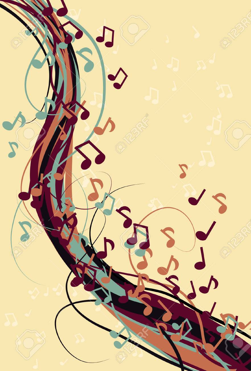 Abstract Messy Music Note Background Royalty Free Cliparts, Vectors ...