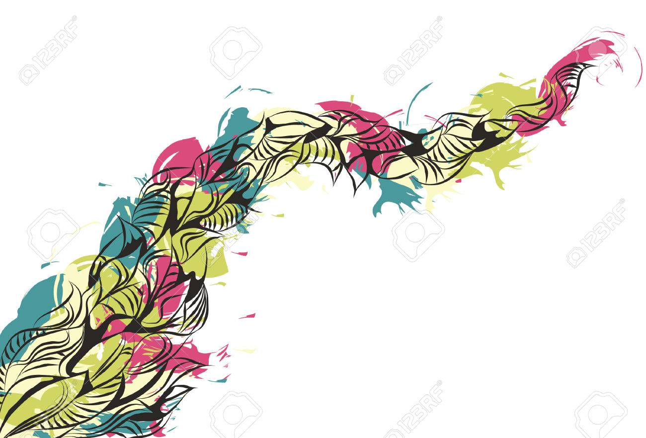 Messy Hand Drawn Painted Doodle Background Stock Vector - 6854933