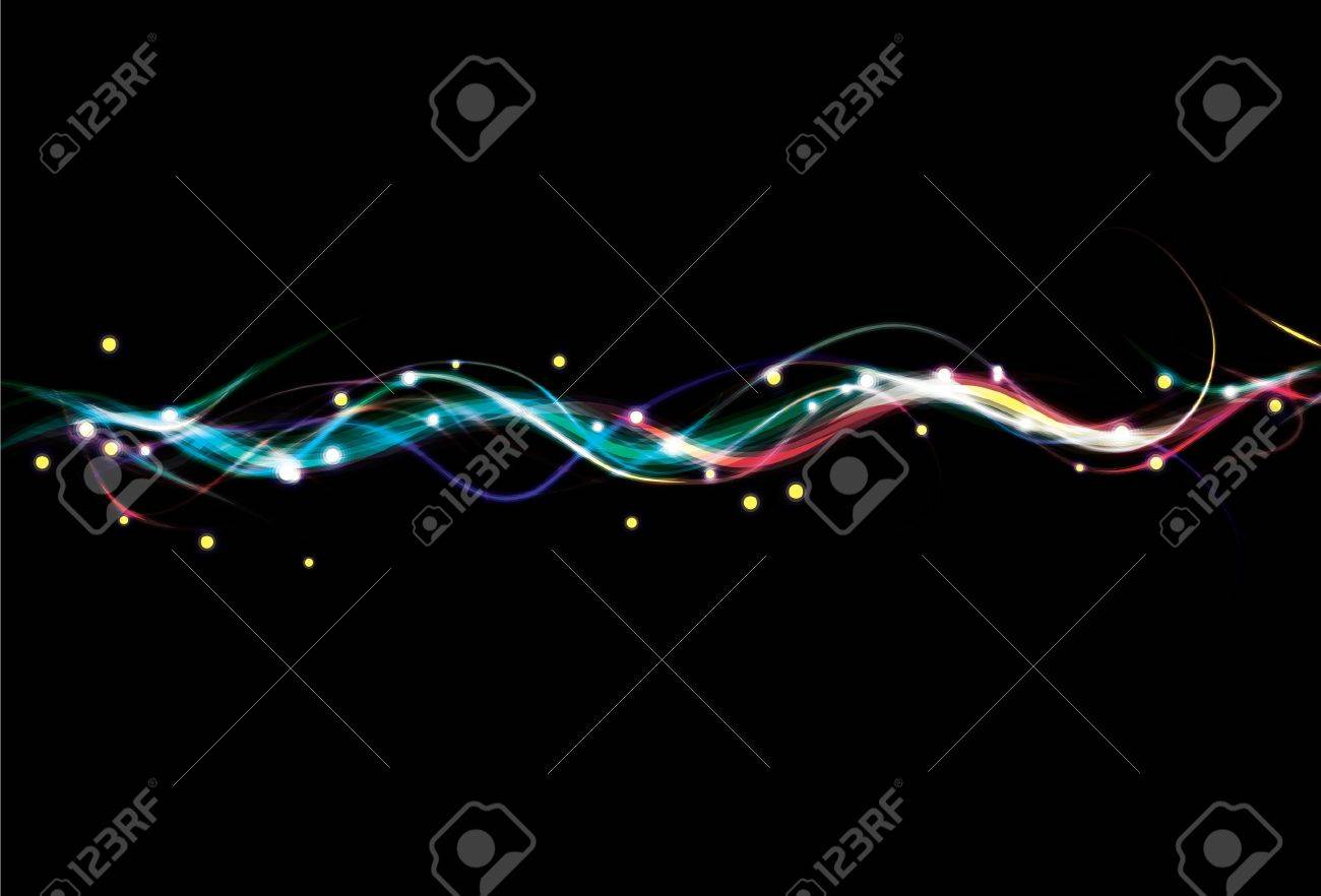 Blurry colorful light effect wave background Stock Photo - 7014418