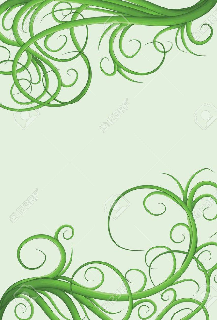 Hand drawn illustrated jumbled vine page border Stock Vector - 10105290