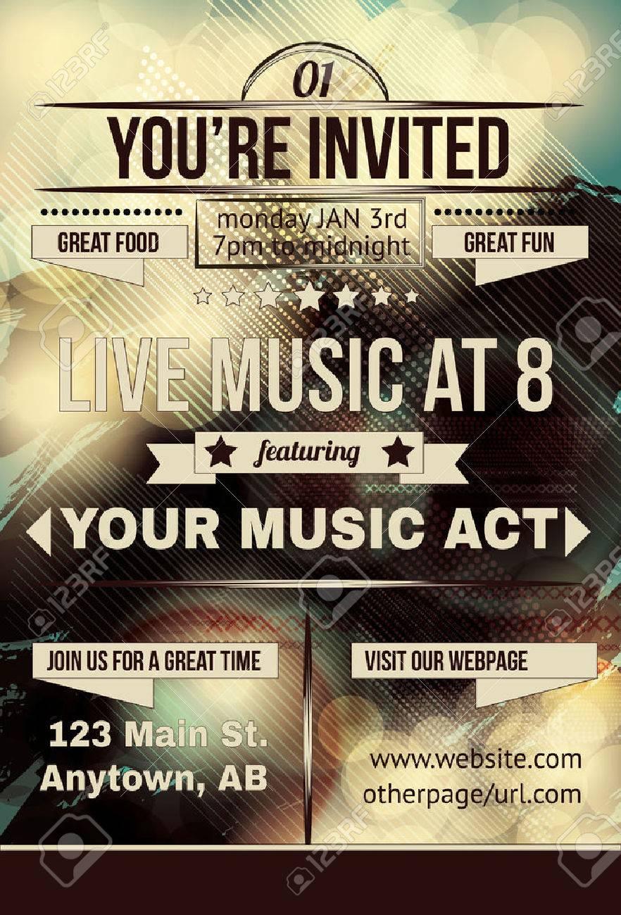 Retro Abstract Party Invitation Flyer Royalty Free Cliparts ...