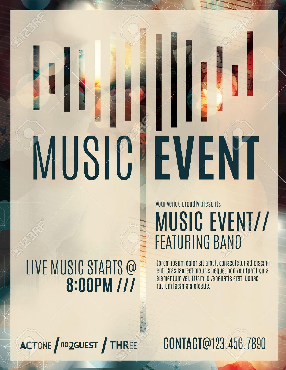 Resumen De Efectos De Luz Flyer Para Un Evento De Música En Vivo ...