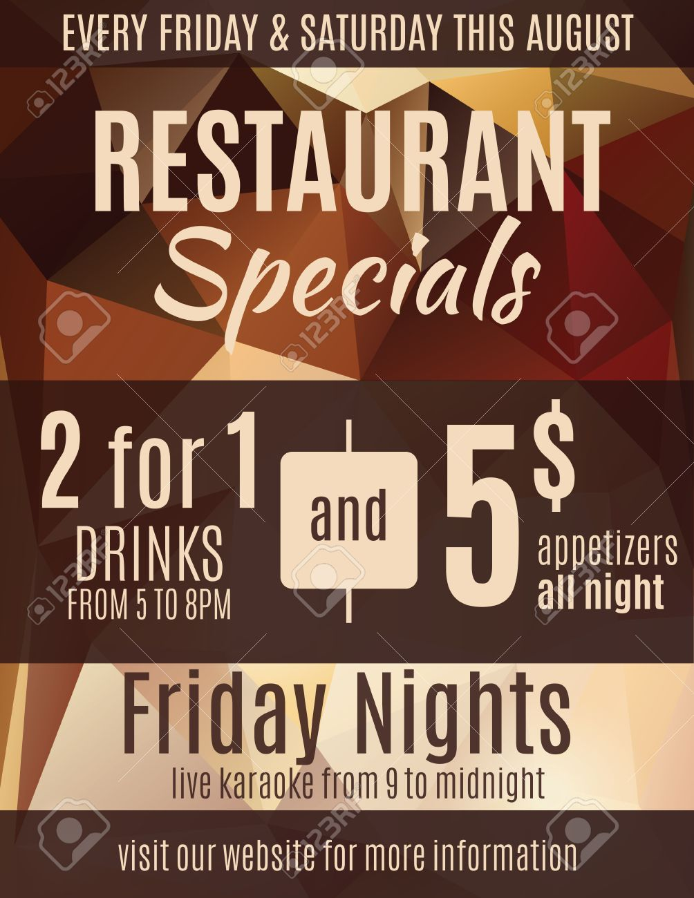 Fun Restaurant Flyer Advertisement Design Template With Coupons - Fun brochure templates