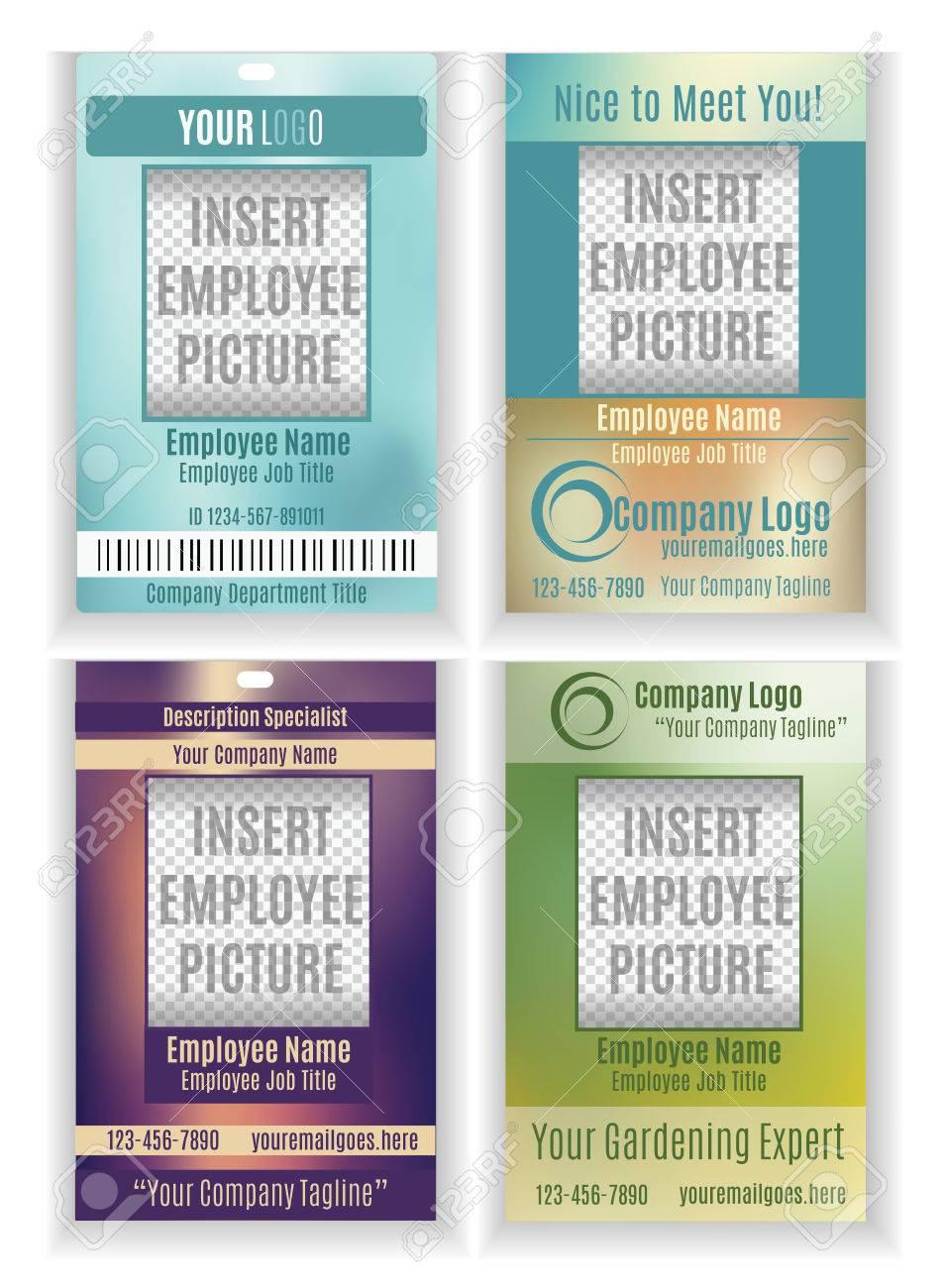 free employee badge template
