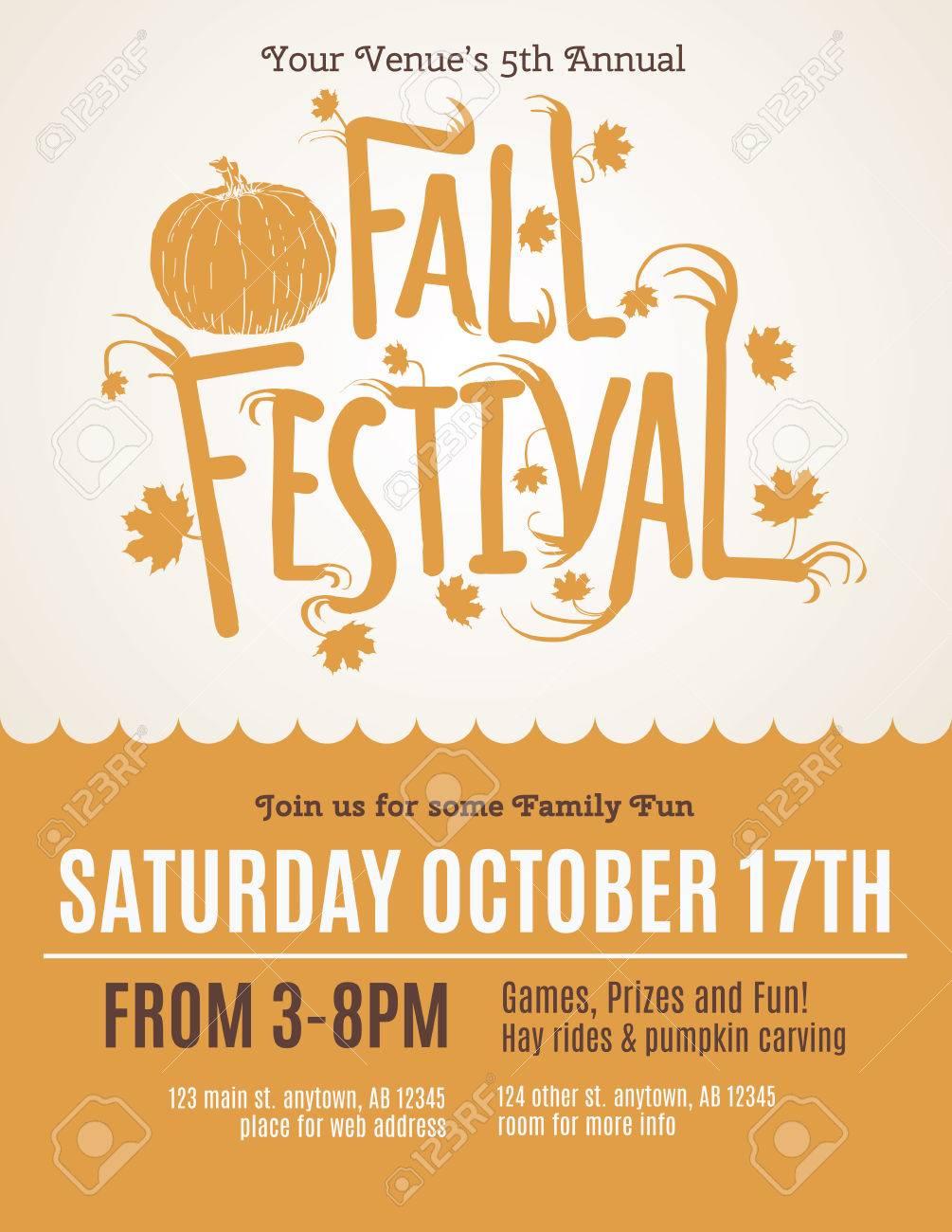 fun fall festival invitation flyer royalty free cliparts vectors