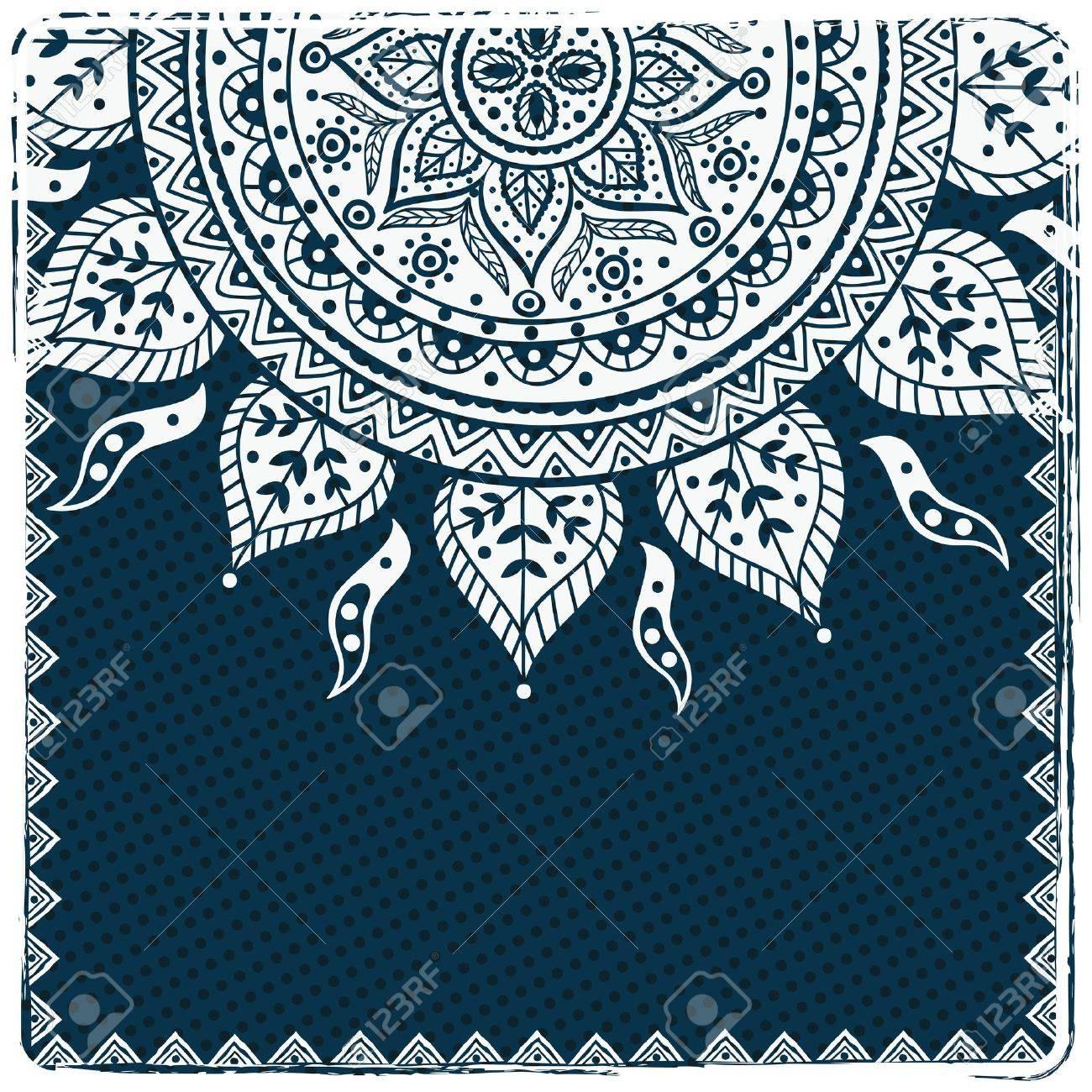 Beautiful ethnic ornament Stock Vector - 17930127