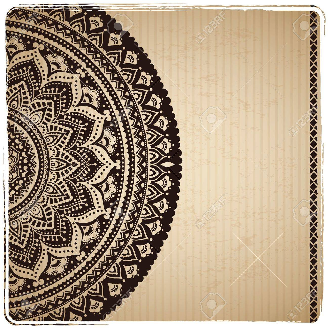 Beautiful Indian ornament Stock Vector - 18546029