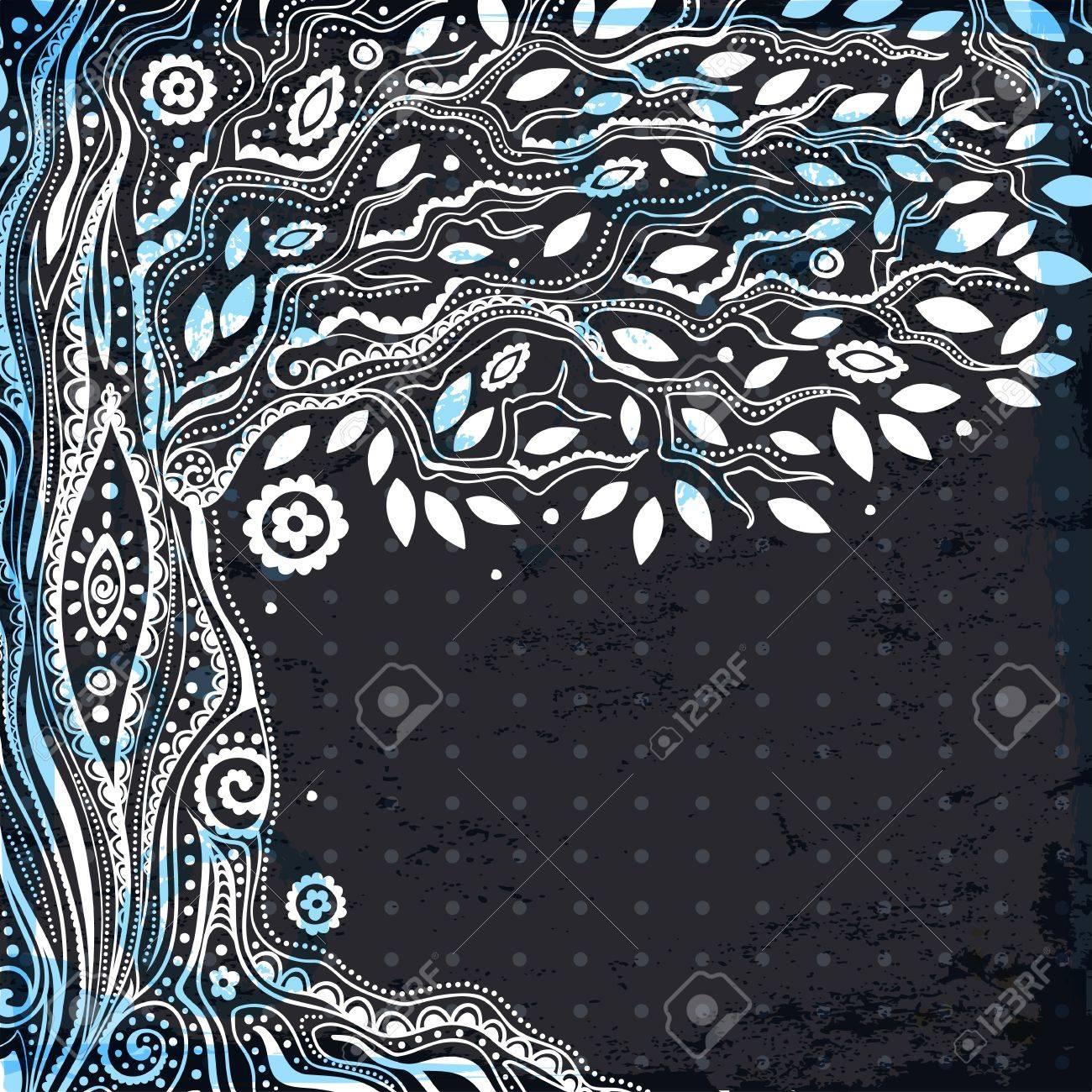 Beautiful vintage hand drawn tree of life Stock Vector - 25030062