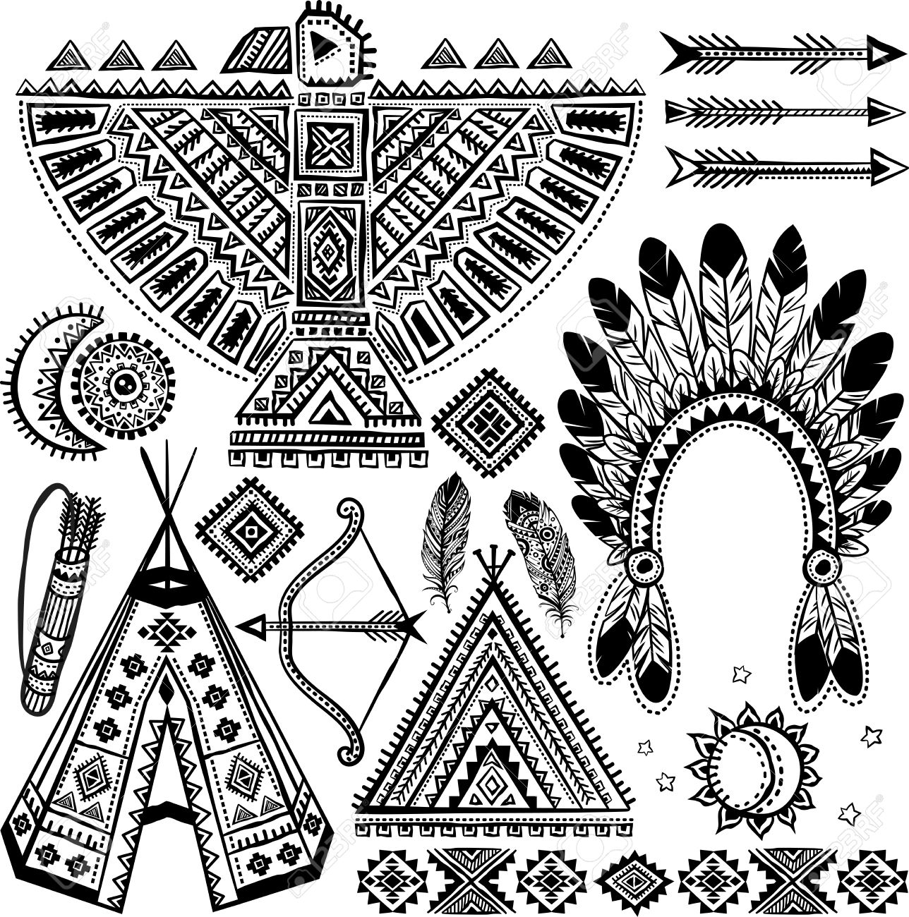 15,039 Indian Feather Stock Illustrations, Cliparts And Royalty ...