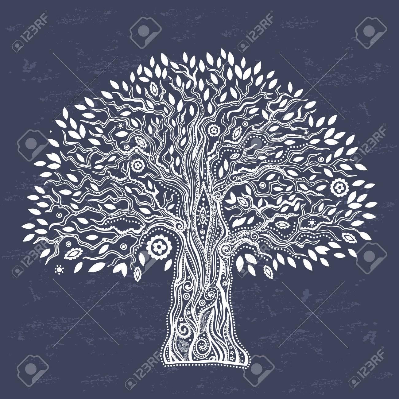 Beautiful Unique ethnic tree of life illustration - 43881304