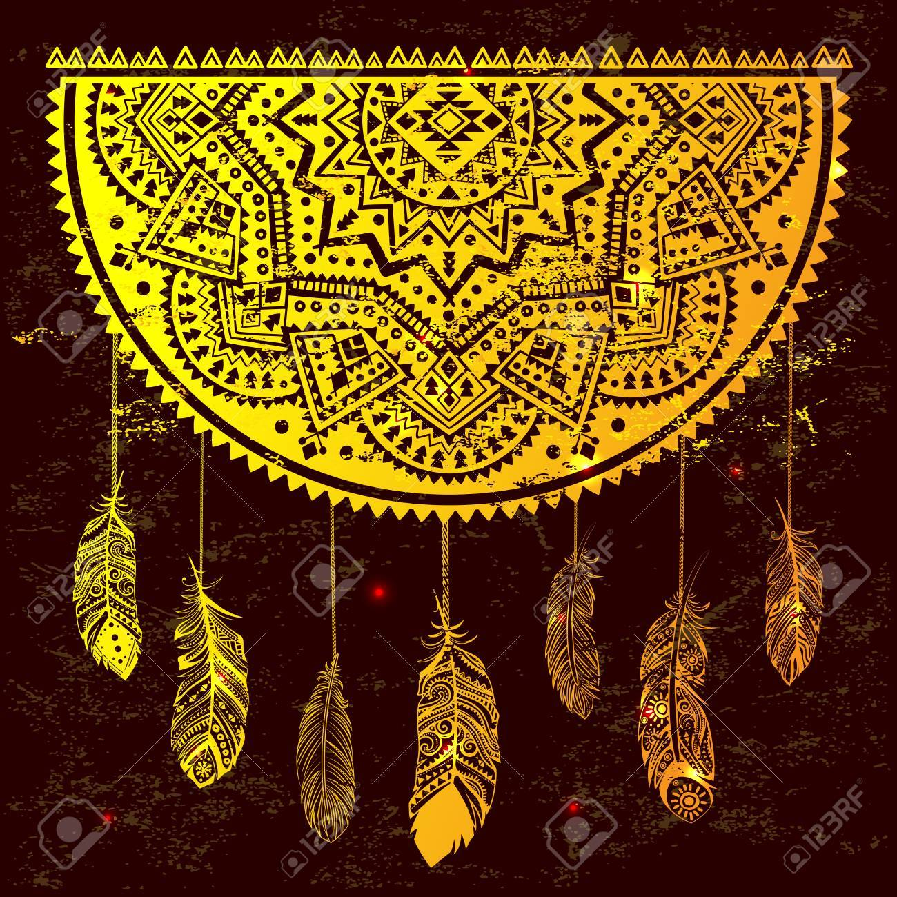 Ethnic american indian dream catcher can be used as a greeting ethnic american indian dream catcher can be used as a greeting card stock vector 59891236 m4hsunfo