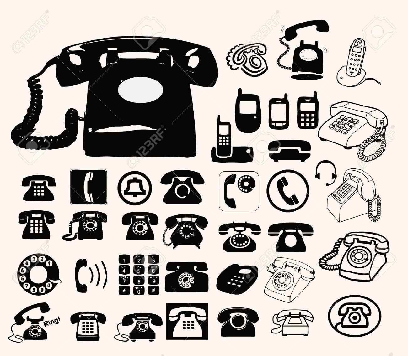 phone set Stock Vector - 15280357