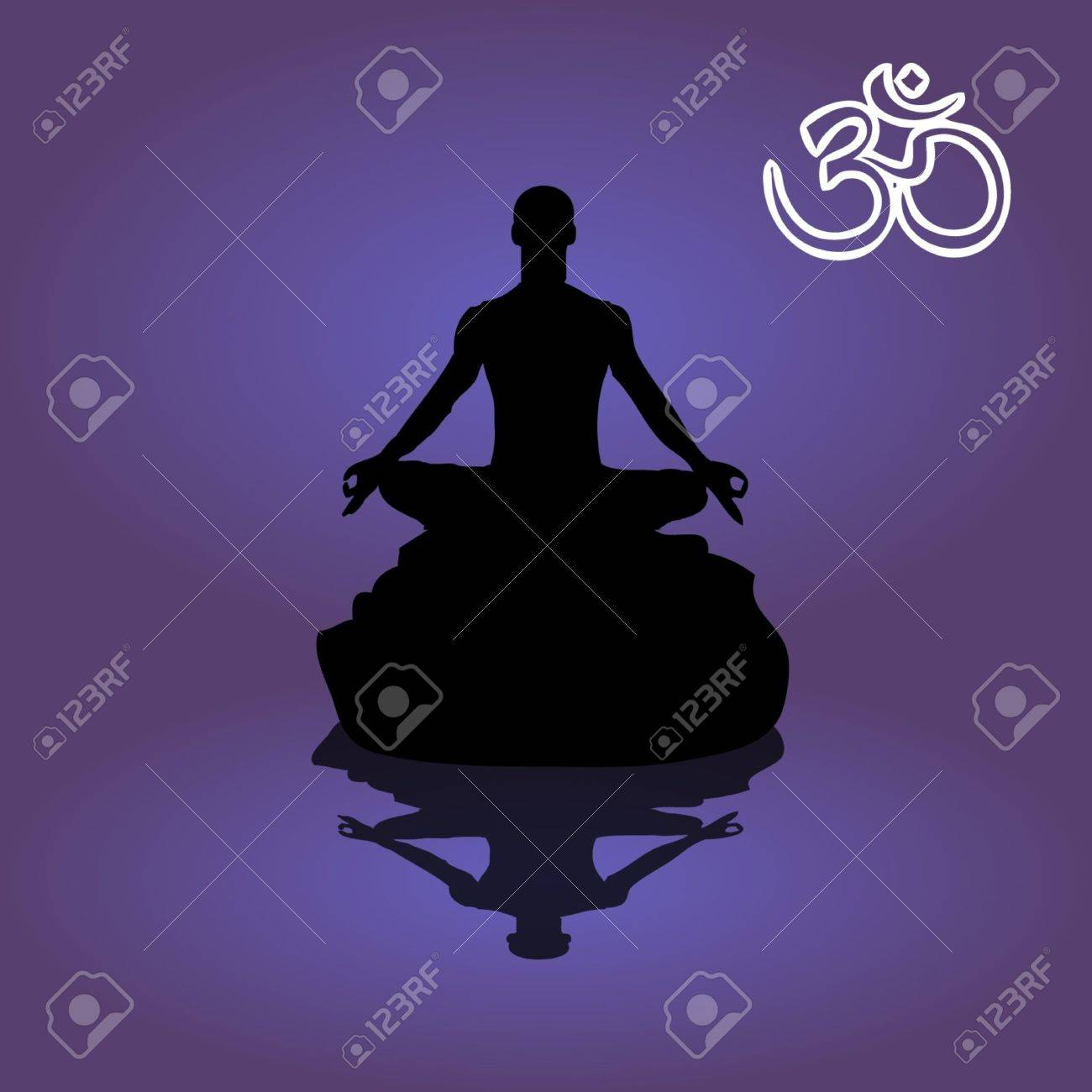 abstract meditating people Stock Vector - 16036657