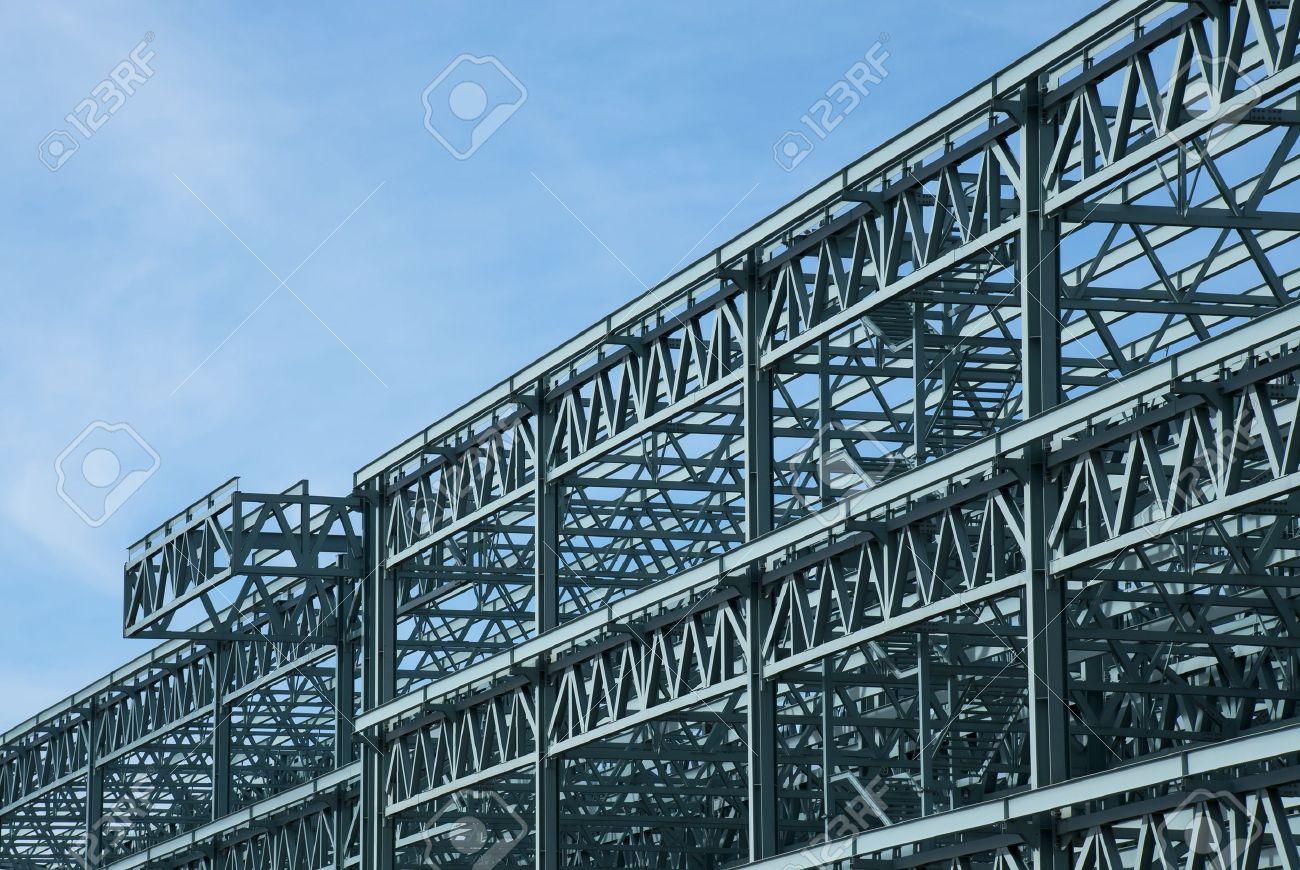 Stahlbau Rahmen Eines Kongresszentrums Gebäude Lizenzfreie Fotos ...