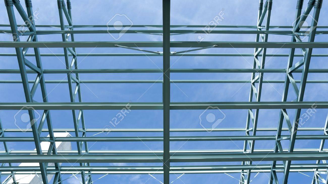 Stahlbau Rahmen Eines Kongresszentrums Gebäude. Lizenzfreie Fotos ...