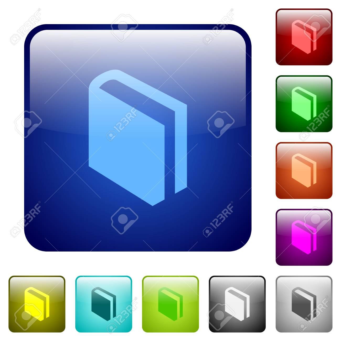 Set Farben Buch Glas Web-Schaltflächen. Lizenzfrei Nutzbare ...