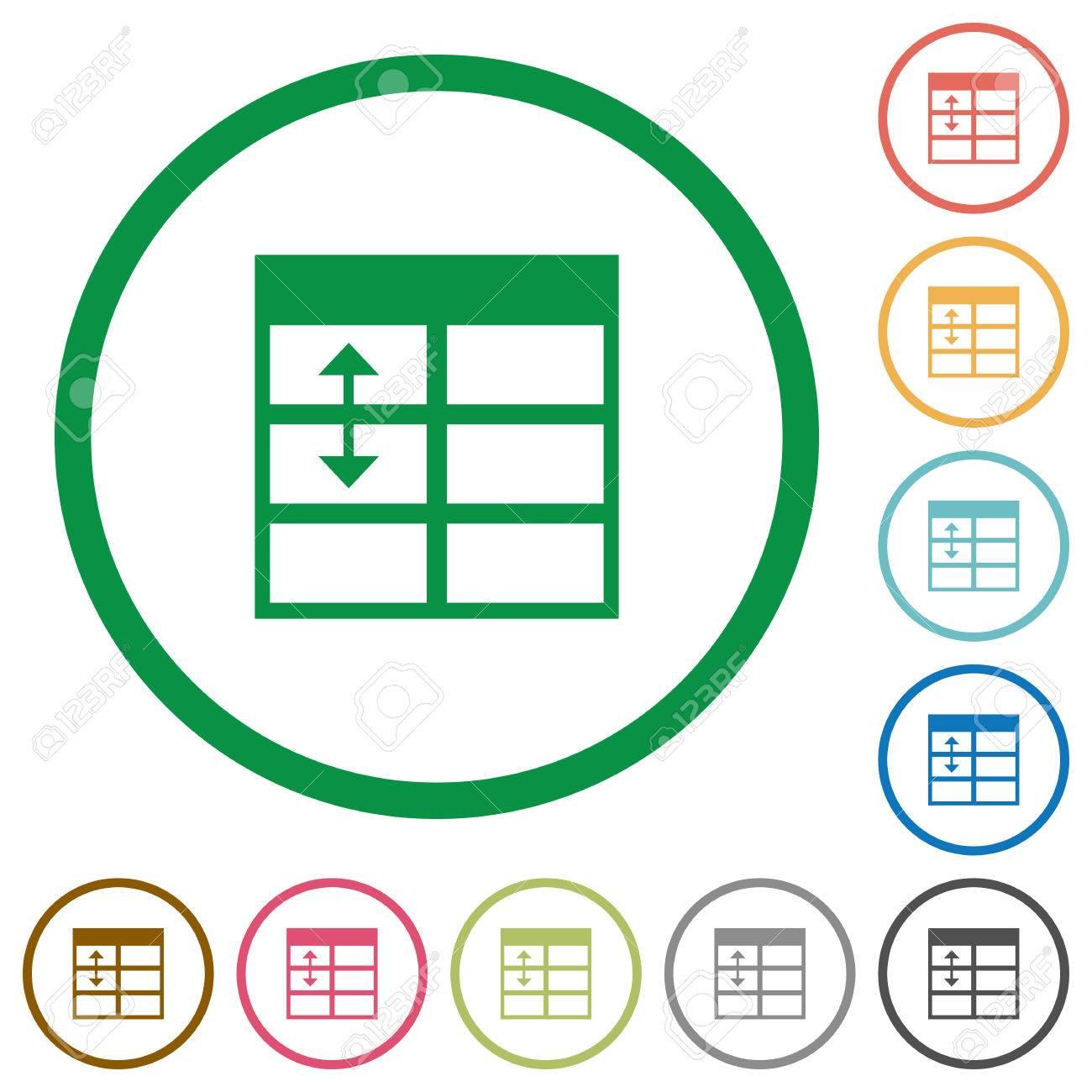 Set Von Kalkulationstabellen Einstellen Tabelle Zeilenhöhe Farbe ...