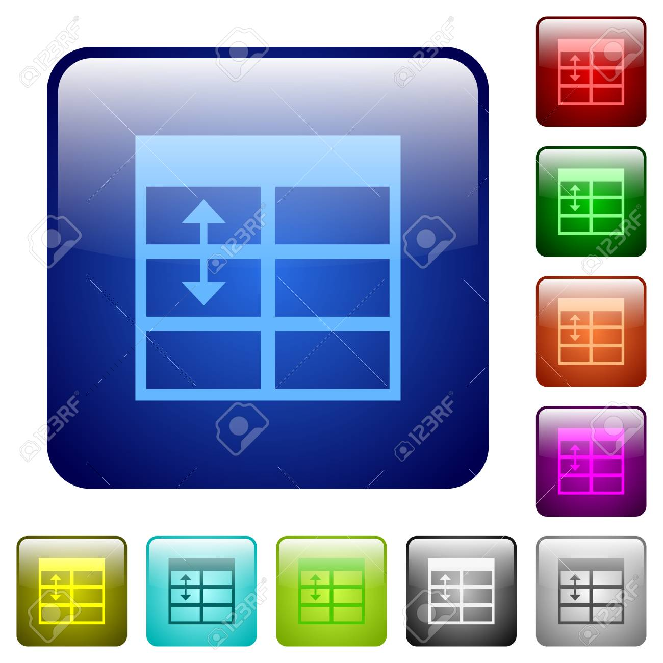Spreadsheet adjust table row height icons in rounded square color glossy button set Stock Vector - & Spreadsheet Adjust Table Row Height Icons In Rounded Square Color ...