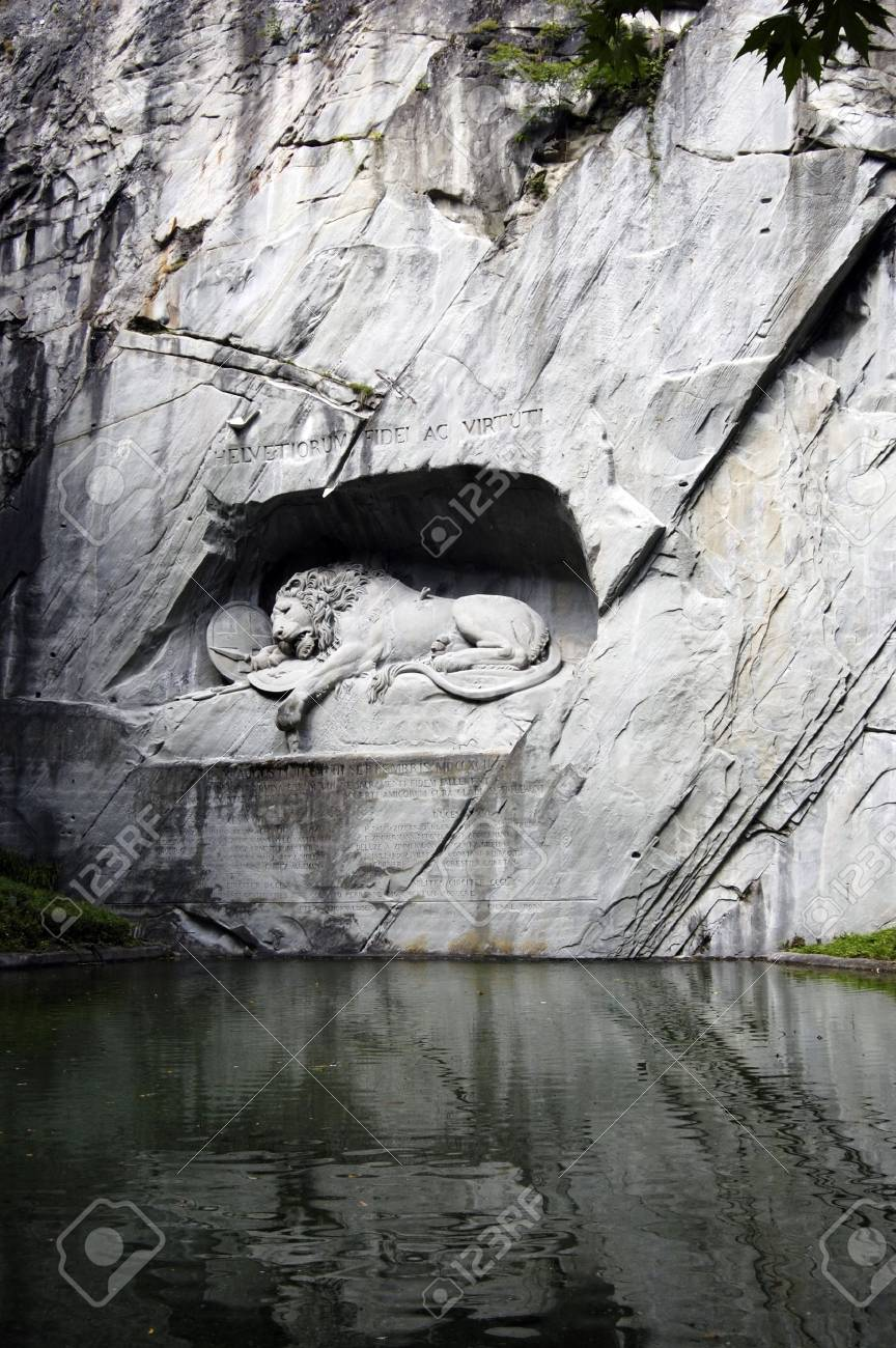 The Lion Monument in Lucerne, Switzerland Stock Photo - 10615866